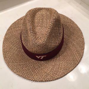 Straw Virginia Tech hat